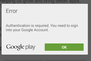 Mengatasi Error Play Store ''Google Play authentication is require""