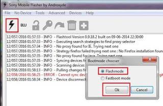 Cara Flash Sony Xperia Go ST27i Dengan Flashtool