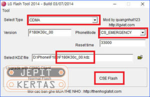 Cara Flash LG Prime Plus LGH522F via Flashtool