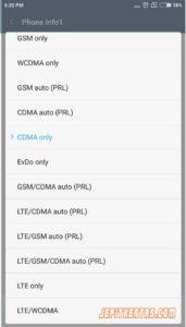 Cara Lock Jaringan 4G LTE Xiaomi Miui 8