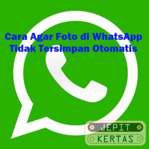 Cara Agar Foto di WhatsApp Tidak Tersimpan Otomatis