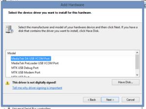 Cara Install MTK65XX Prealoader USB VCOM Driver di Windows