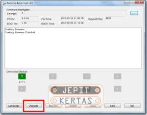 Cara Flash Advan S45C Star Fit via RK Batch Tool