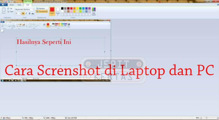 Cara Screnshot di Laptop dan PC