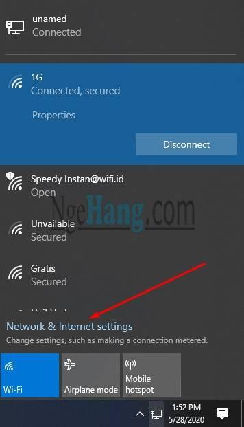 List Wifi Yang Terkoneksi PC