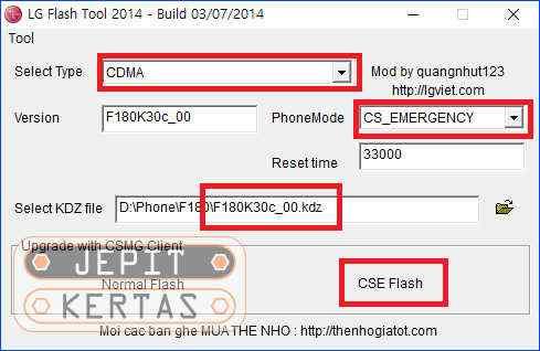 Cara Flash LG Smartphone via LG Flash Tool 2014