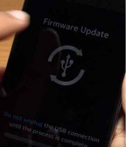 Tampilan Firmware Update LG