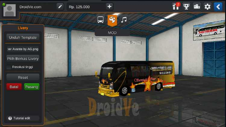 Livery MOD BussID Elf NLR 55 BLX Bumper Avante Bus Simulator Indonesia