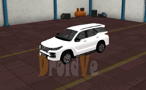 Livery Mobil Toyota Fortuner TRD Livery Hitam