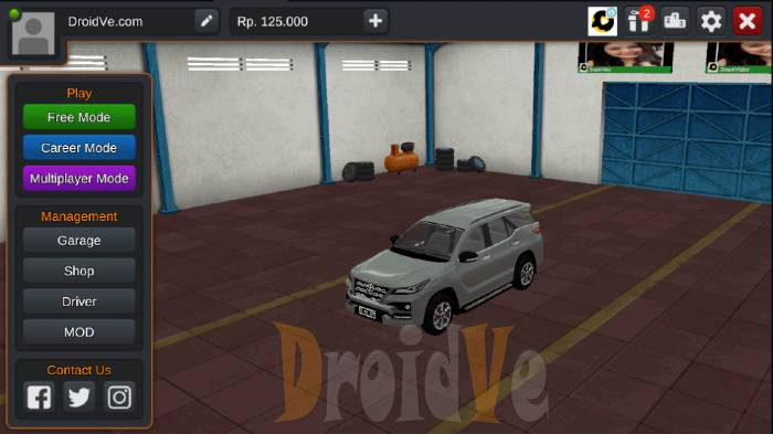 MOD BussID Mobil Toyota Fortuner TRD dan Livery
