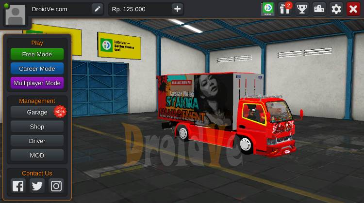 MOD Truck BussID Canter Box Lady Rose Bus Simulator Indonesia