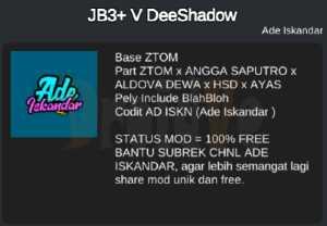 Credits MOD BussID Bus JB3+ DeeShadow