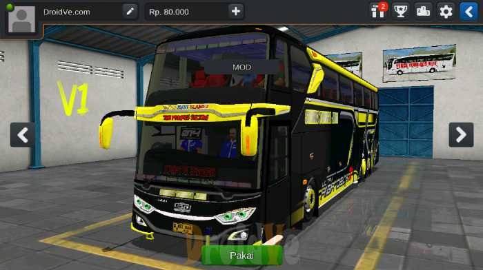 MOD BussID Bus JB3+ UHD Facelift Bus Simulator Indonesia